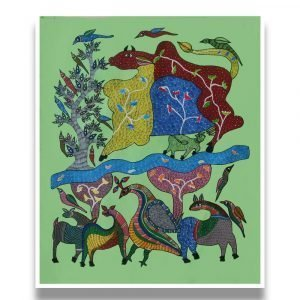 Forest Gond Painting - Gond Canvas Painting