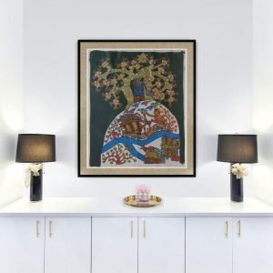 villagers-and-nature- Gond-Canvas-Painting