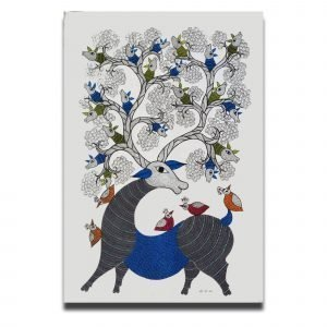 Deer - Gond Canvas Painting