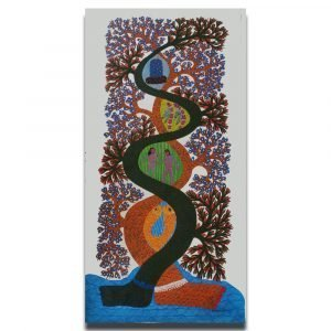 Formation of Life - Gond Canvas Painting