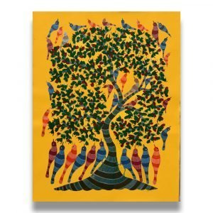 Birds and nature gond painting