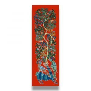 Deer and Peacocks Canvas Painting 3