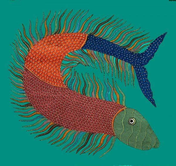 Fish Tribal Painting