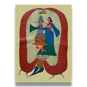 Krishna and Radha acrylic Painting