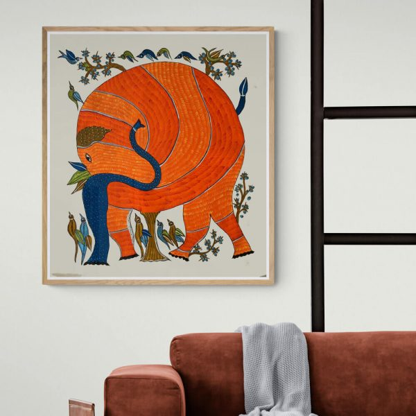 The Elephant Canvas Painting1
