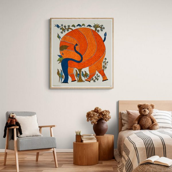 The Elephant Gond Painting