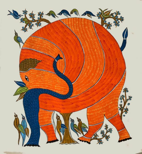 The Elephant Tribal Painting