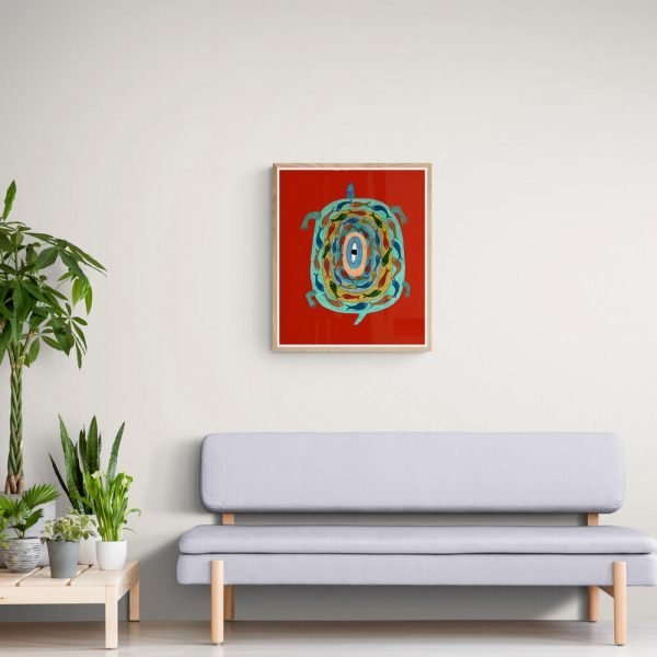 Turtle and fishes Wall Decor