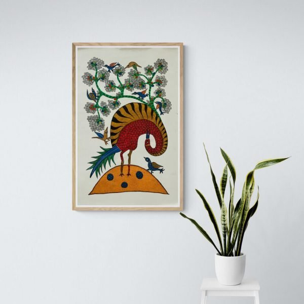 Wild Bird Gond Painting