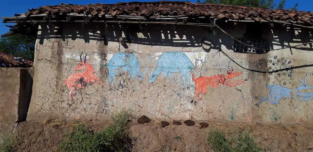 Wall Art on Mud House