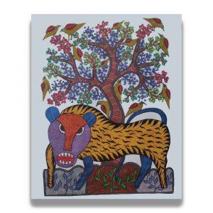 Angry Tiger Tribal Art