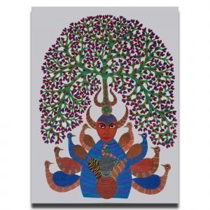 Bade Dev Gond Canvas Painting