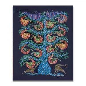 Birds on a tree Bhil art
