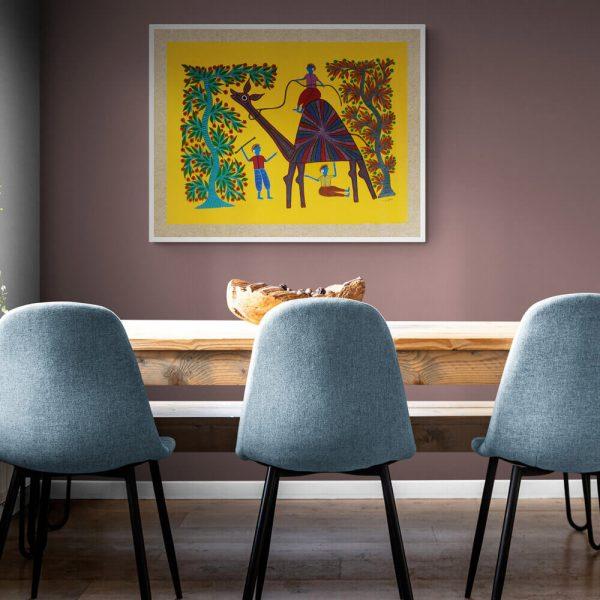 Camel ride Acrylic Painting