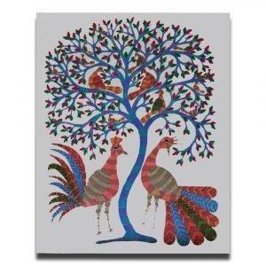 Colourful Birds Acrylic Painting