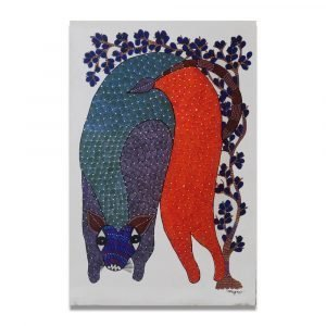 Colourful Wild Animal wall Painting