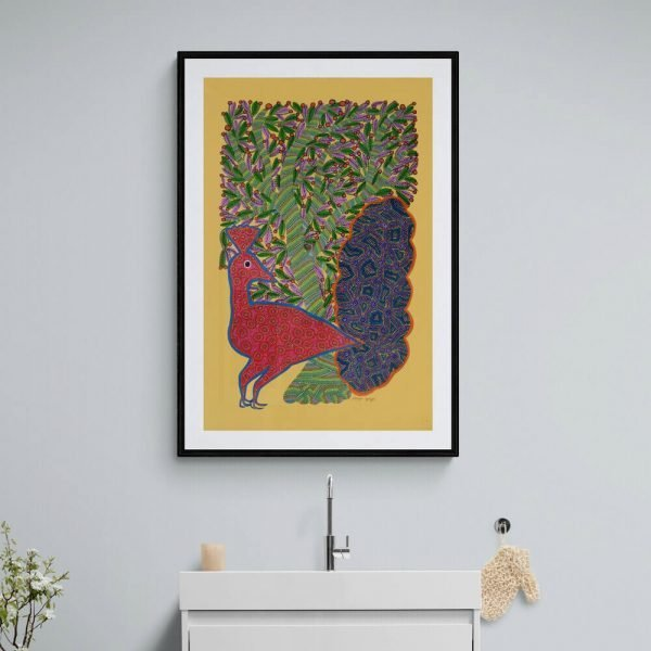 Dancing Peacock Acrylic Painting