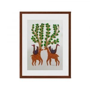 Deer and Bird Framed painting