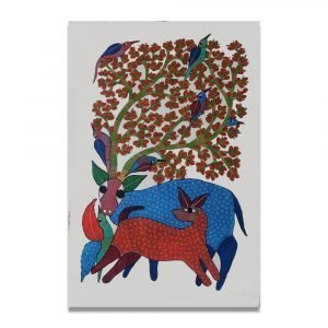 Deer and Fawn Wall Painting