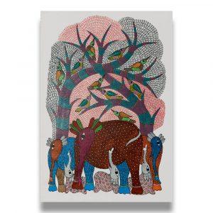 Elepants Tribal Painting