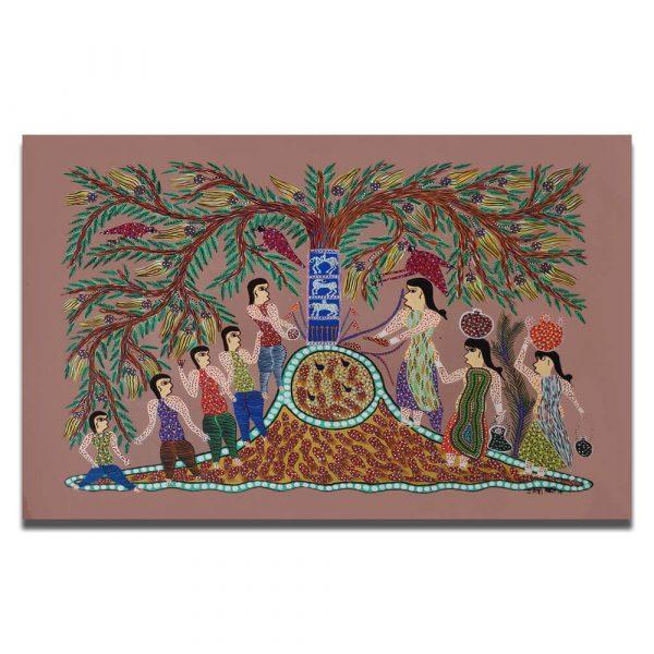 Festival Celebration Bhil Art
