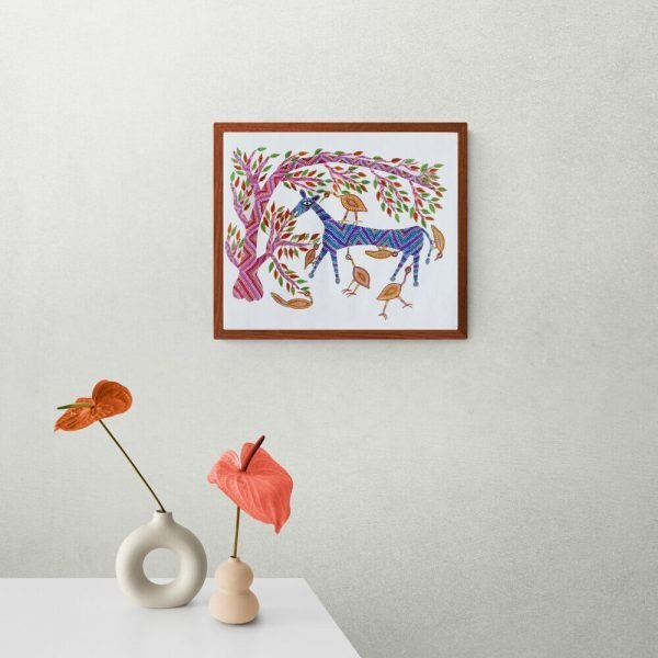 Horse and Birds Canvas painting