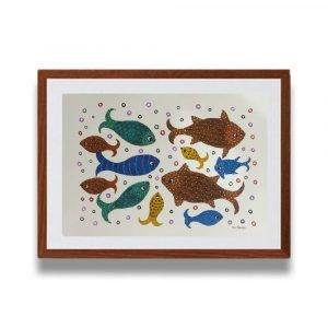 School of Fishes Tribal Art