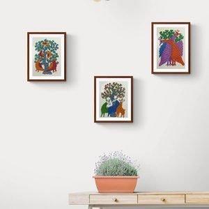 Set of three Paper Painting