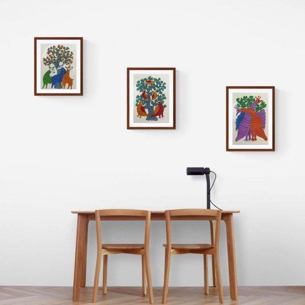 Set of three Tribal Painting