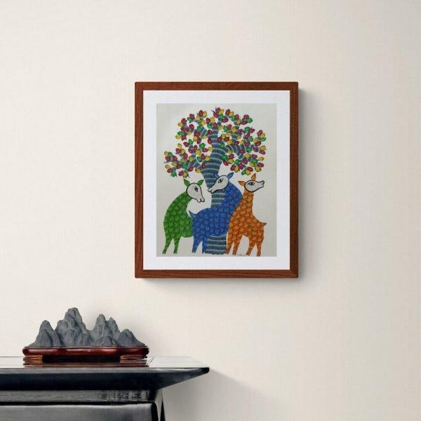 Three Deer animal Painting