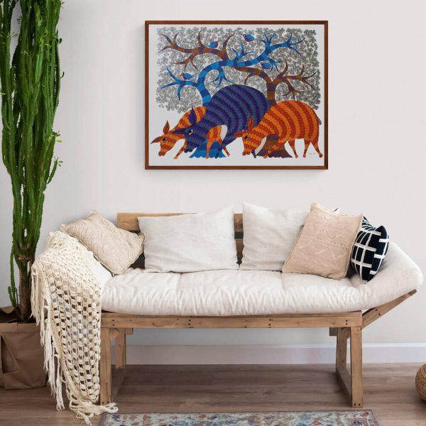 Three Deer canvas painting