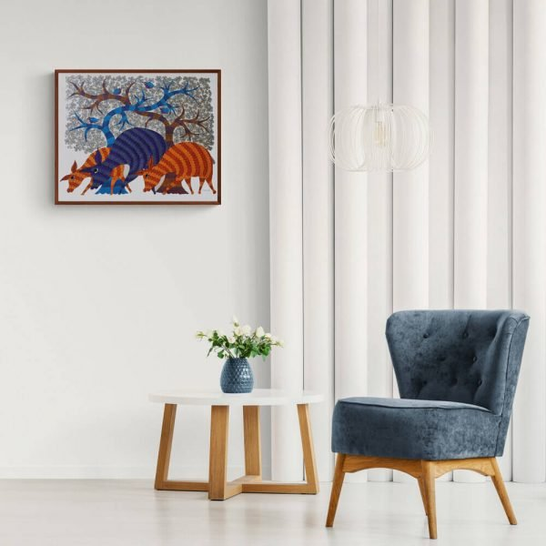 Three Deer wall painting