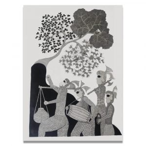 Tribal Festival Celebration canvas Painting