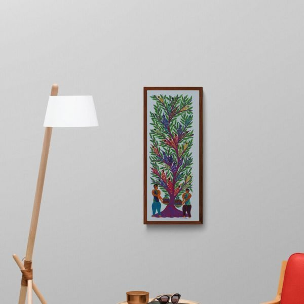 Tribal and Trees Bhil Painting