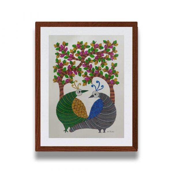 Two Birds Gond Art