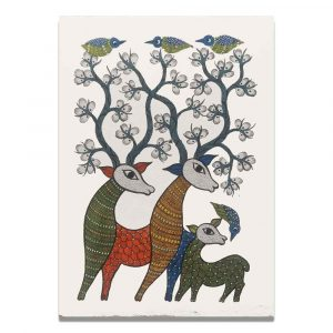 Deer Family Canvas Painting